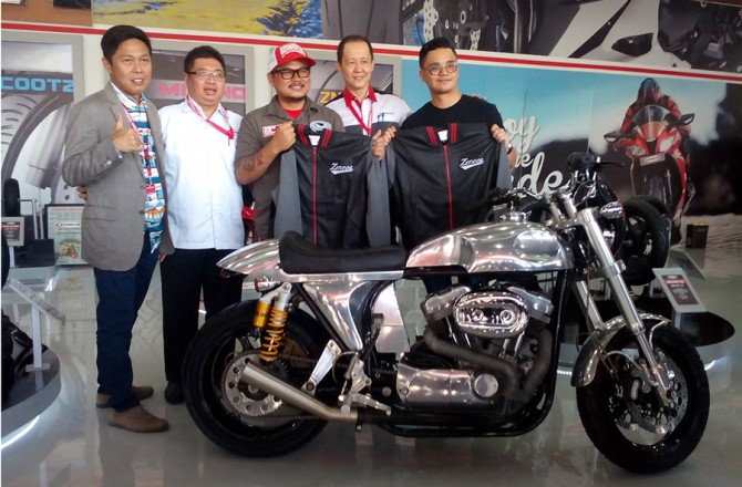 Zeneos Tantang Builder Bikin Cafe Racer Powerplant Motorcycles