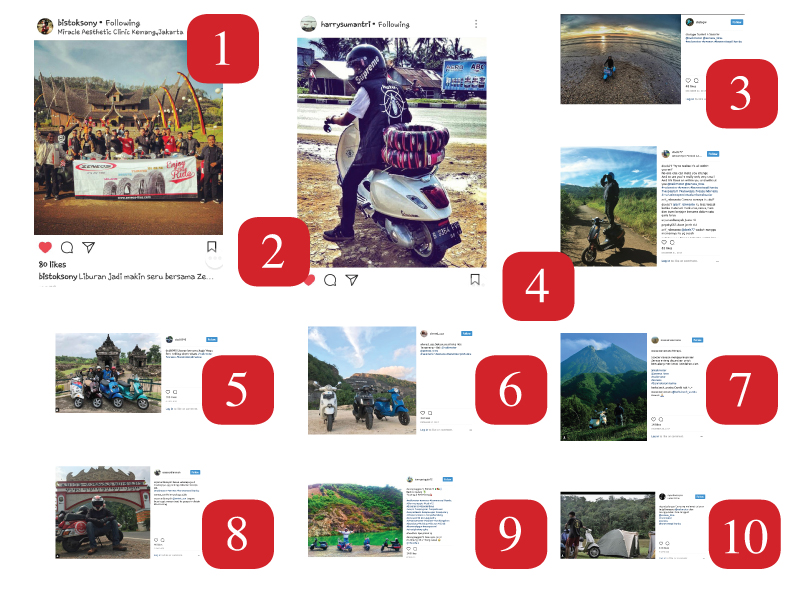 Pemenang Holiday With Your Scooter Instagram Photo Contest